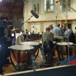 Chris chats to the LSO Percussionist before the Lexus session at AIR Studios