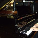 Chris plays the Steinway D at AIR studios