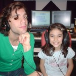 Pop Star Mika with Chris's daughter Lisa during recording sessions for his first Album