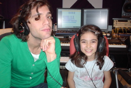 Pop Star Mika with Chris's daughter Lisa