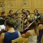 The Budapest Studio Orchestra during the Revealing Beauty sessions.